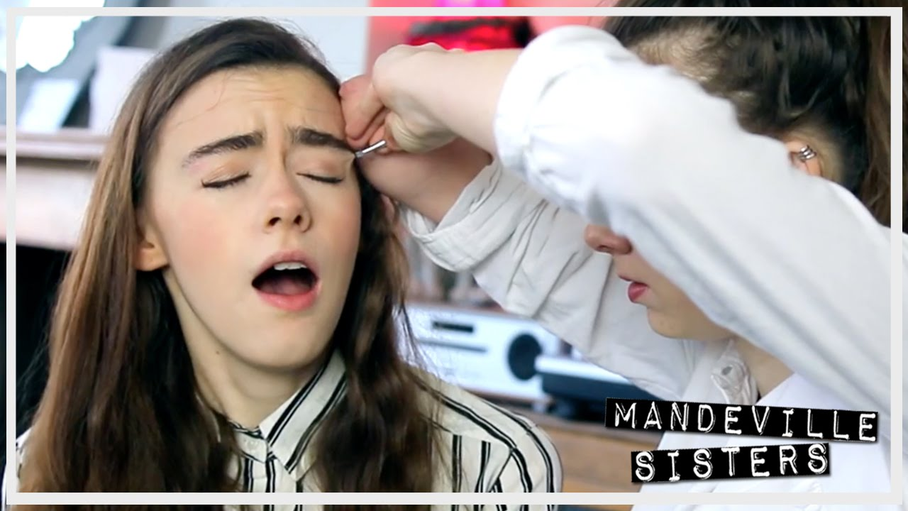 First Time Plucking My Eyebrows Youtube