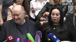 Трансляция от здания Пресненского суда, где вынесли приговор Кокорину и Мамаеву