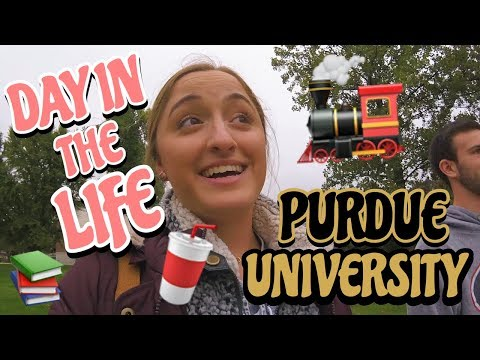 COLLEGE DAY IN MY LIFE (Purdue University)