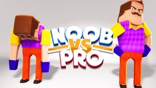 NOOB VS PRO - HELLO NEIGHBOUR CHALLENGE GAMES - Minecraft