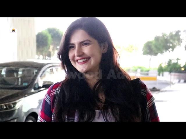 Zareen Khan & Nana Nani Spotted At Airport