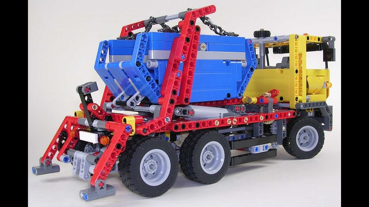 lego technic camion conteneur jouets pour les enfants youtube. Black Bedroom Furniture Sets. Home Design Ideas