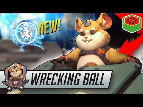 WRECKING BALL - OP NEW HERO! | Overwatch Gameplay