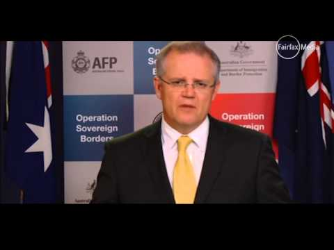 Australian Immigration Minister Scott Morrison tells asylum seekers to go home