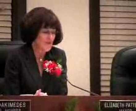 Elizabeth Patterson Inauguration as Mayor