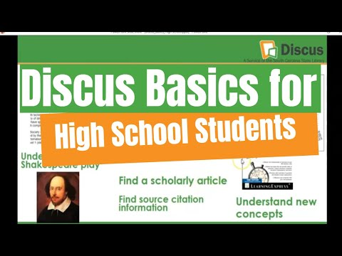 Discus Basics For High School Students (cc)