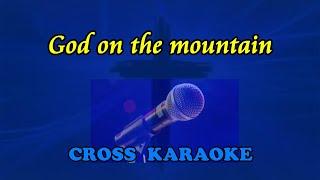 God on the mountain - karaoke with lyrics by Allan Saunders