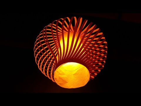 How to make a Pendant Light - Making Night Lamp out of paper - DIY Paper Lamp/Lantern