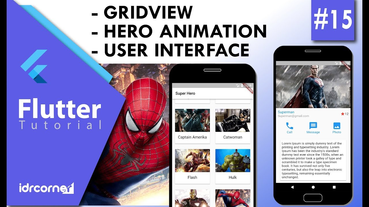 Tutorial Flutter #15 - GRIDVIEW, HERO ANIMATION, USER INTERFACE