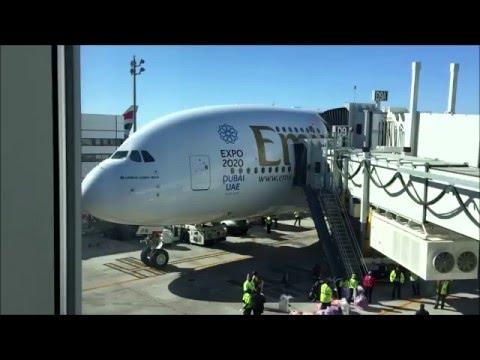 Emirates Flight Houston to Dubai Spring 2016 Vacation
