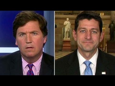 Watch Tucker Carlson's Face Freeze Blankly In Disbelief As Paul Ryan Tries To Explain The House's 8-Day April Work Schedule