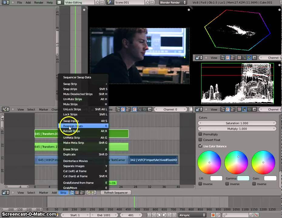 Blender 2 57 Colour Correction tutorial