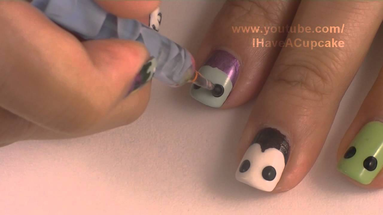 Halloween Nails - Halloween Monsters Nail Art *Mummies, Witches ...