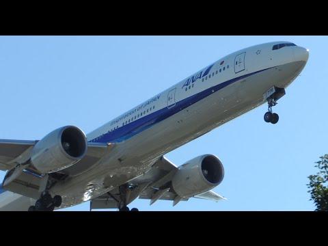 ANA All Nippon Airways Boeing 777-300ER [JA778A] landing in LAX