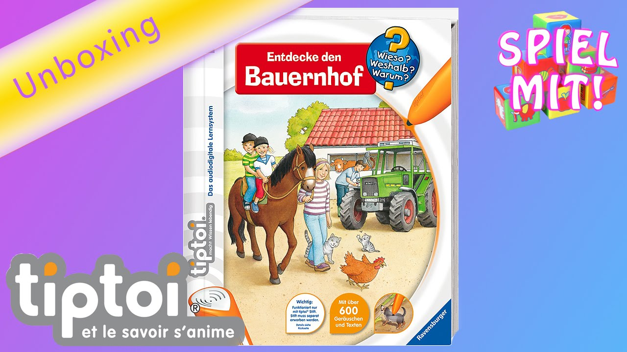 tiptoi bauernhof entdecke den bauernhof unboxing demo by spiel mit mir kinderspielzeuge. Black Bedroom Furniture Sets. Home Design Ideas