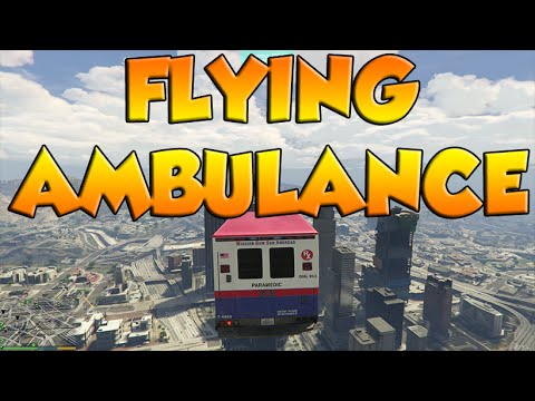 GTA 5 PC - FLYING AMBULANCE MOD - YouTube
