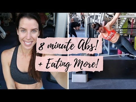 WHY I'M EATING MORE CARBS + 8 MINUTE HOME AB WORKOUT!