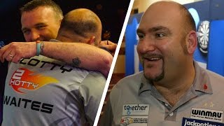 Scott Waites can't believe he is through to the quarter finals