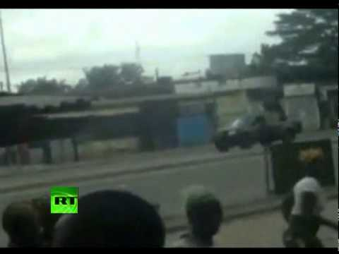 Shocking video: Troops shoot at female protesters in Ivory Coast