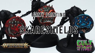 How to Paint Skareshields on your Orruk Kruleboyz from AoS Dominion!