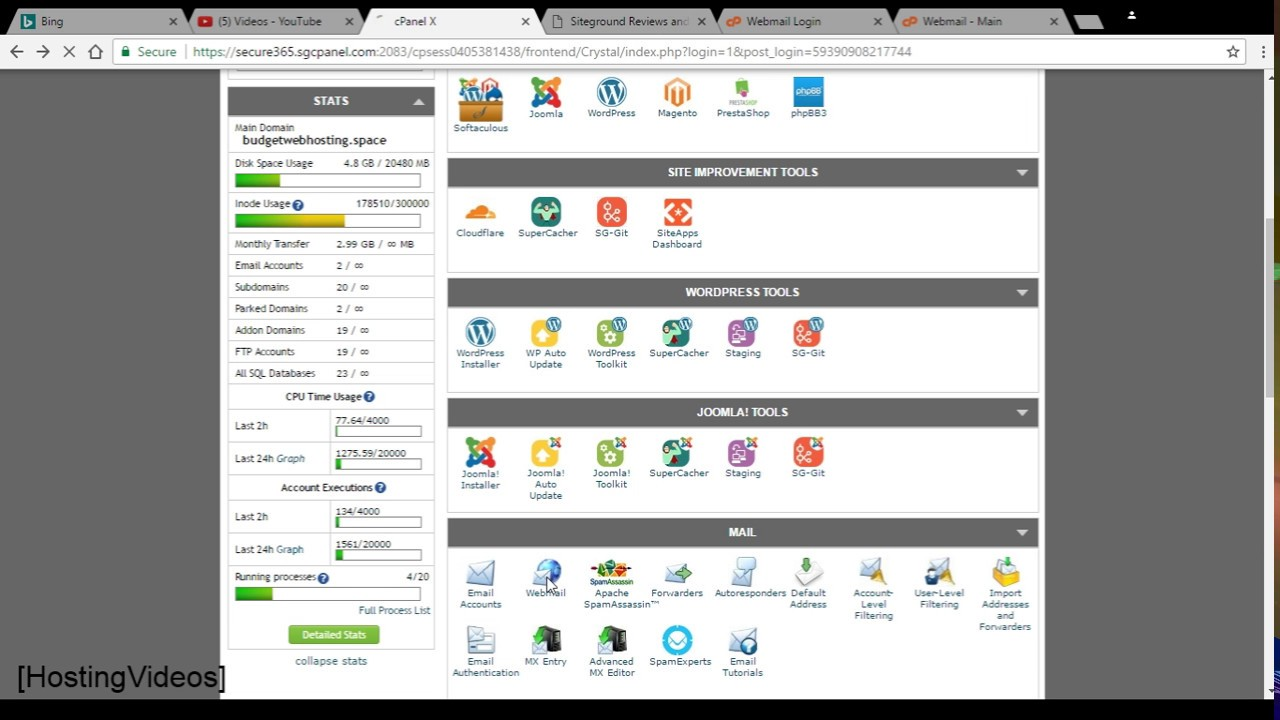 Siteground Webmail Review: Login Access Email Account and Roundcube Overview