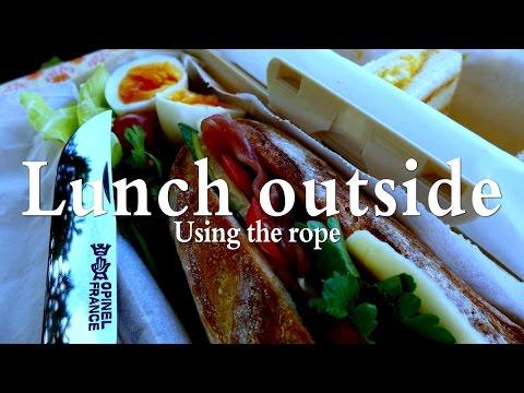 ロープワークとランチ Rope work Outside lunch