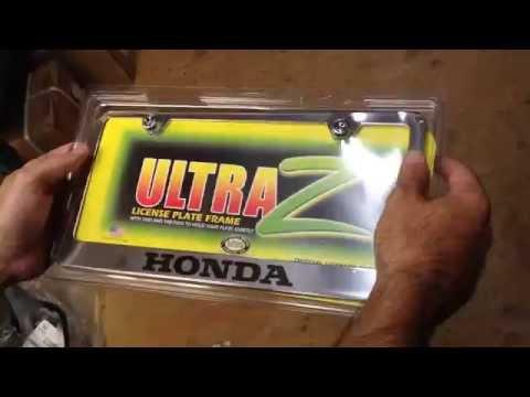 Honda License Plate Frame