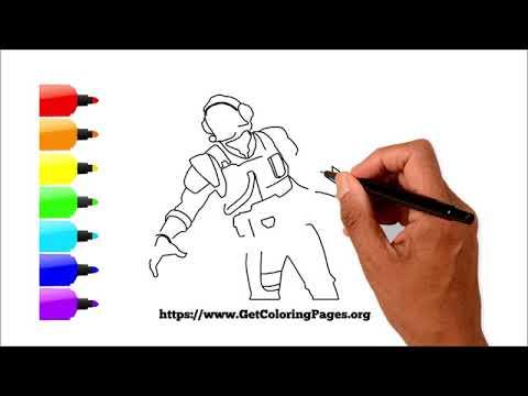 How to Draw Fortnite Blockbuster Skin