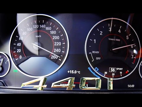 BMW 440i 2017 ACCELERATION & TOP SPEED 0-260 km/h Autobahn Test Drive Sound