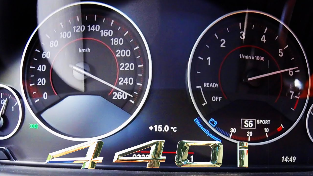 Bmw 440i 2017 Acceleration Top Speed 0 260 Km H Autobahn Test