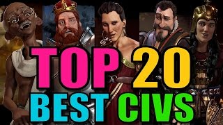 Top 20 Best Civs And Leaders In Civilization 6  Civ 6 Strategy