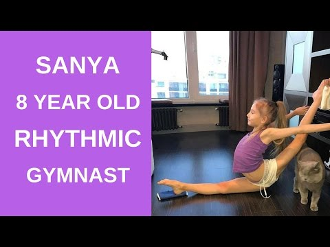 Sanya a 8 year old rhythmic gymnast