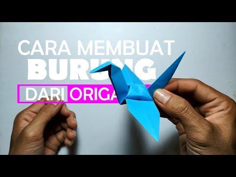 cara  membuat  burung  dari  kertas  origami  dengan  mudah