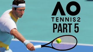 AO TENNIS 2 Career Mode Part 5 - FIRST FINAL & SPONSOR
