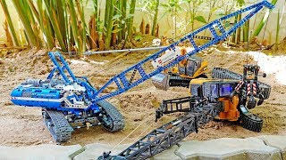 중장비 크레인 조립놀이 포크레인 자동차 장난감 구출놀이 Crane Assembly Car Toy Helps Excavator
