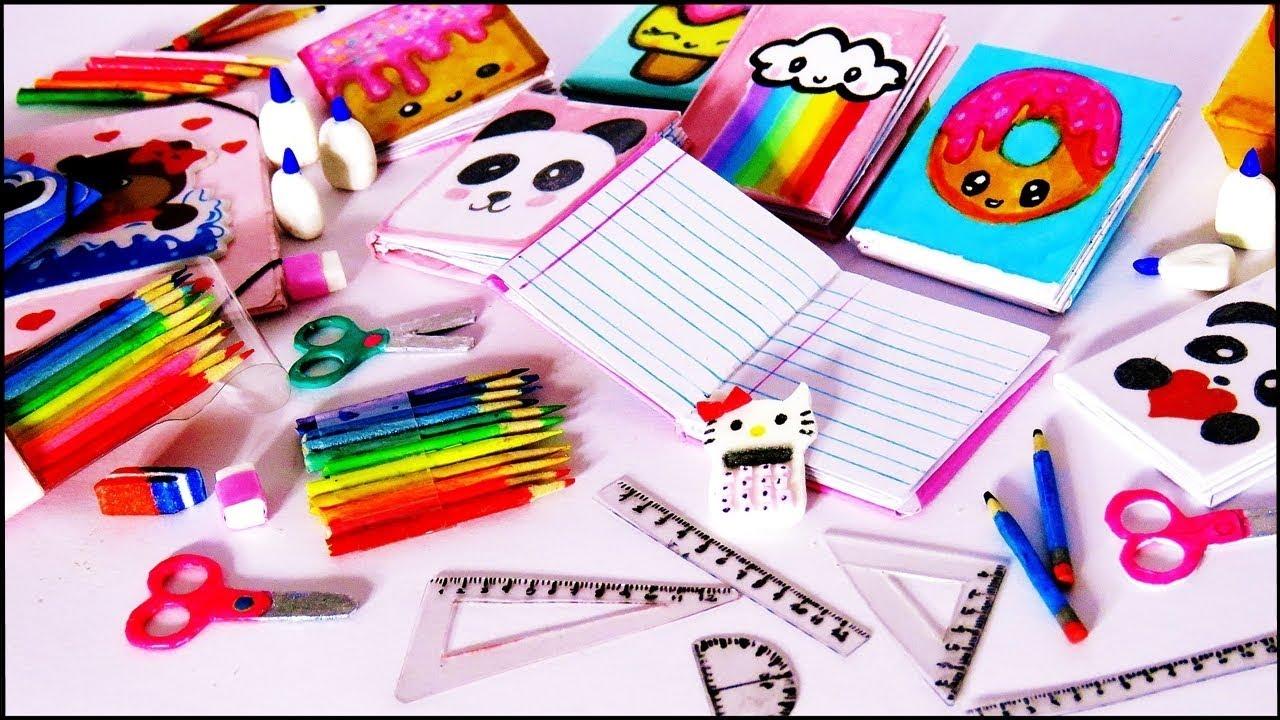 9 utiles escolares para barbie como hacer mini cuaderno - Como hacer manualidades faciles ...