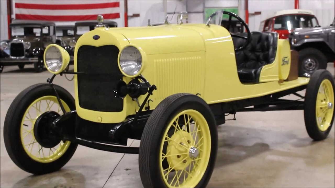 1929 ford model a speedster yellow youtube. Black Bedroom Furniture Sets. Home Design Ideas