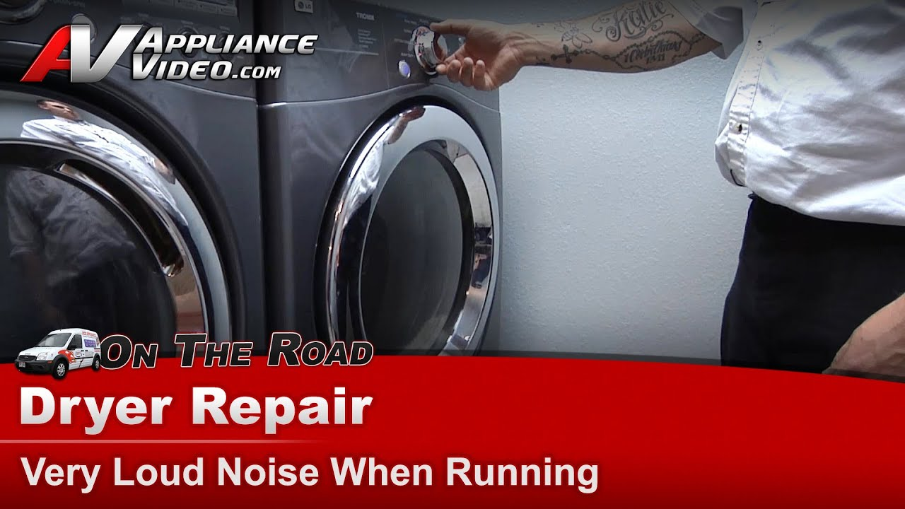 Lg Dryer Repair >> LG Dryer very Loud Noise When Running -Repair & Diagnostic - DLE5955G - YouTube