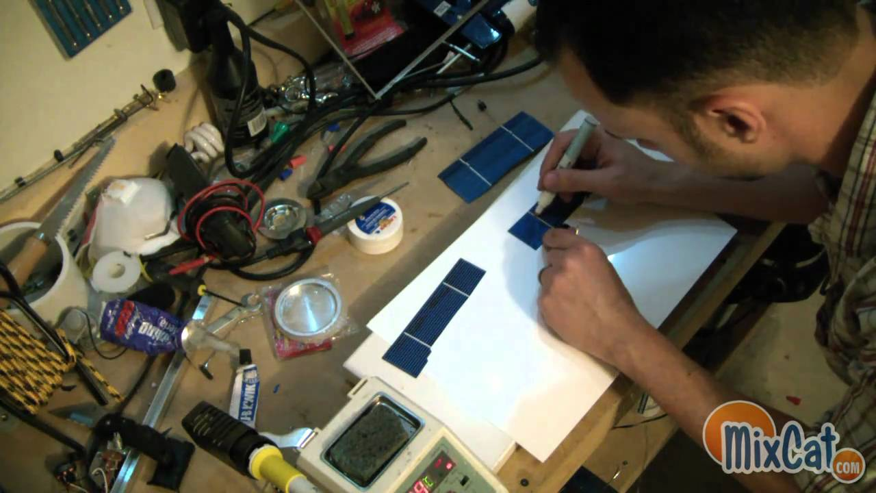 Broken LCD to Solar Panel recycling green DIY Project Part ...