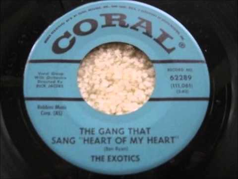 Exotics  The Gang That Sang Heart Of My Heart  Hotcha Mighty Knows  Coral 62289  1961