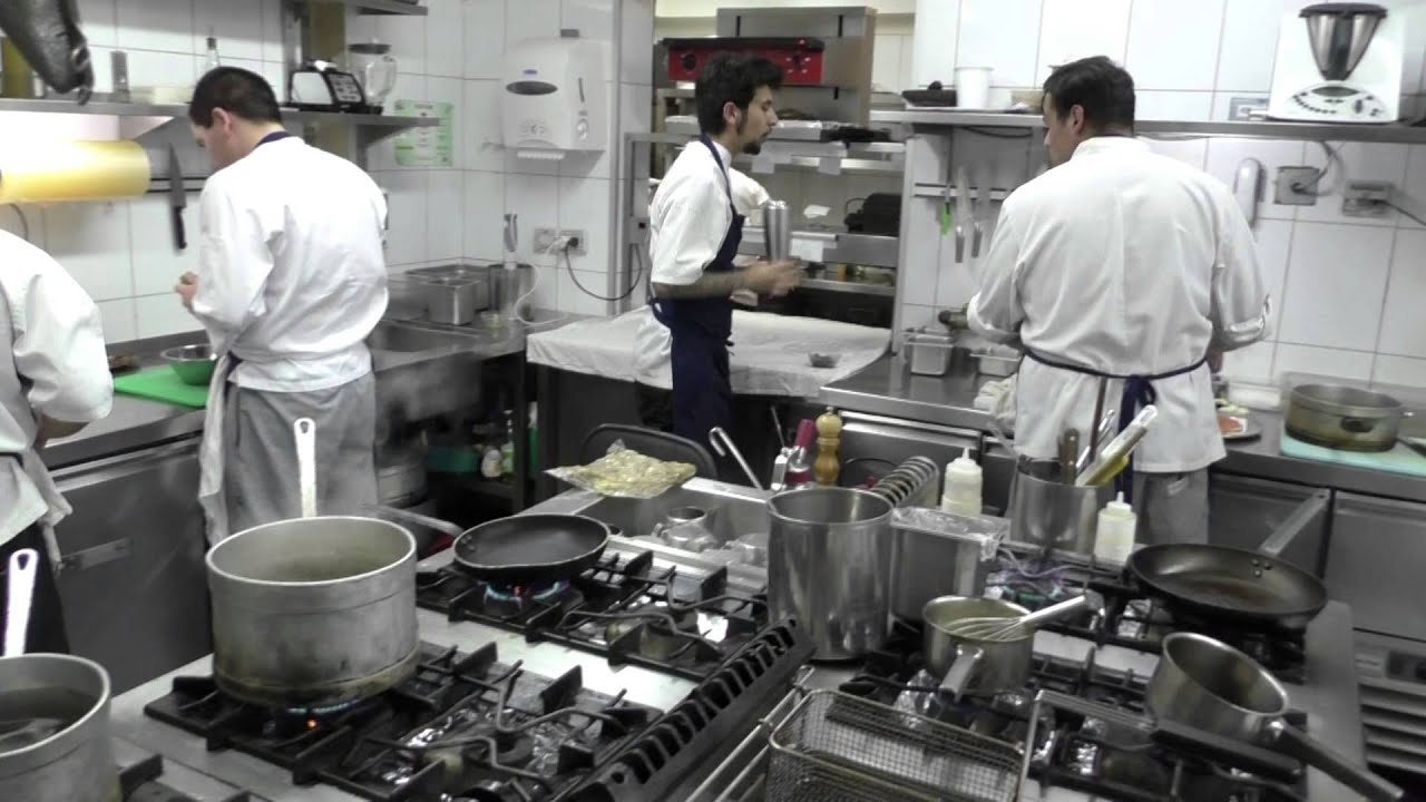 Busy Restaurant Kitchen Busy Kitchen At Restaurant Europeo In Santiago Chile  Youtube