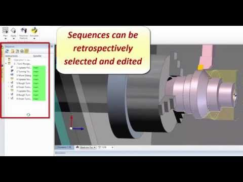 Workflow Multiple Turn Sequences - Edgecam 2015 R1 CAD-CAM