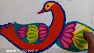 Rangoli design to Welcome New Year  2019