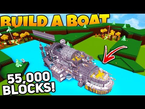 HUGE WARSHIP! (COOLEST BOAT EVER) | Build A Boat For Treasure ROBLOX
