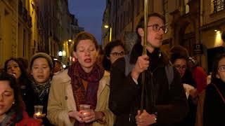 Notre-Dame : hommages et prières après l'incendie (16 avril 2019, Paris) [4K]