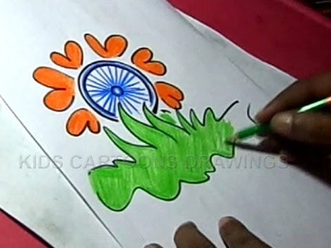How to draw independence day flower greeting step by also youtube rh