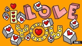 I Love You - Letering in 3D- How To Draw Cute and Graffiti Letters by Garbi KW