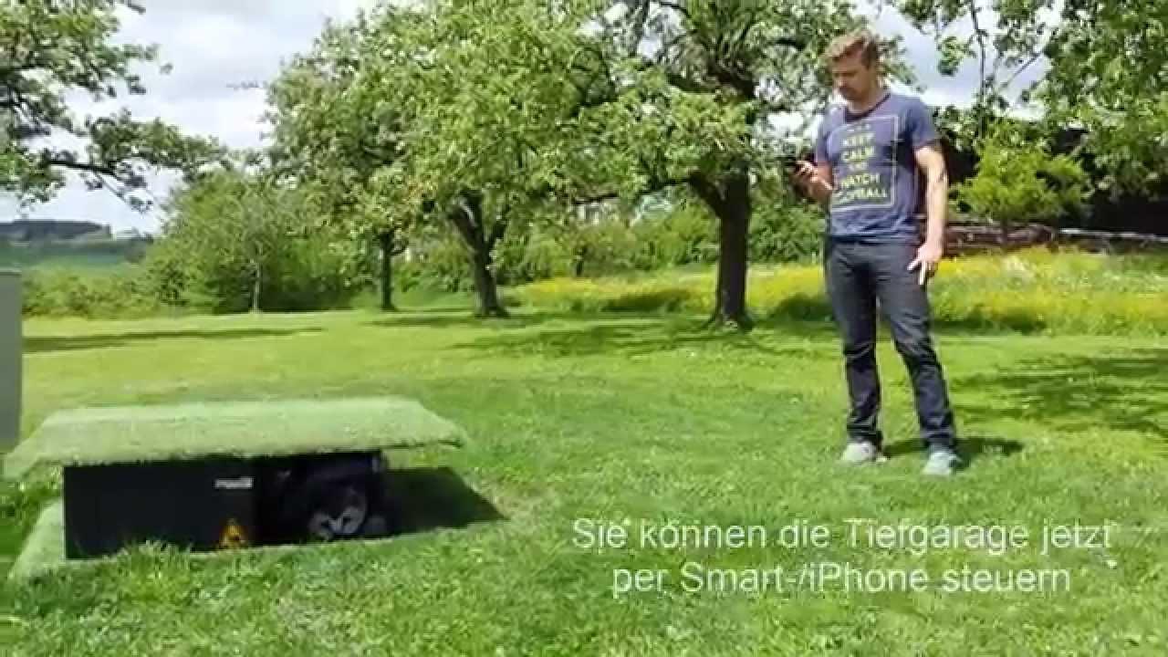 rasenroboter tiefgarage app youtube