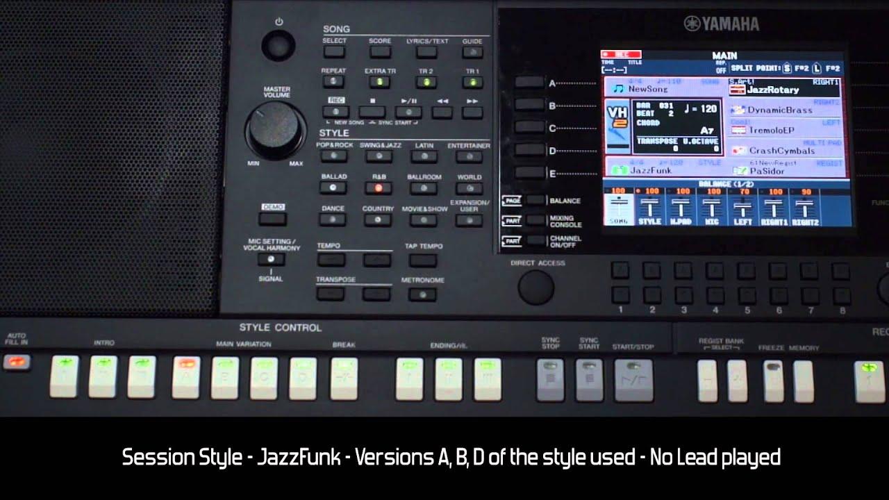 "yamaha psr s950 - style demo ""jazzfunk"" - hq audio & video - youtube"