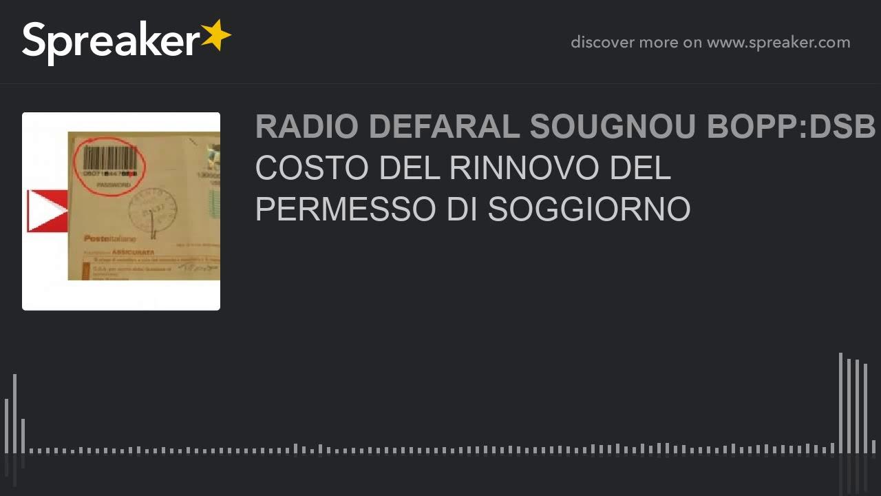 COSTO DEL RINNOVO DEL PERMESSO DI SOGGIORNO